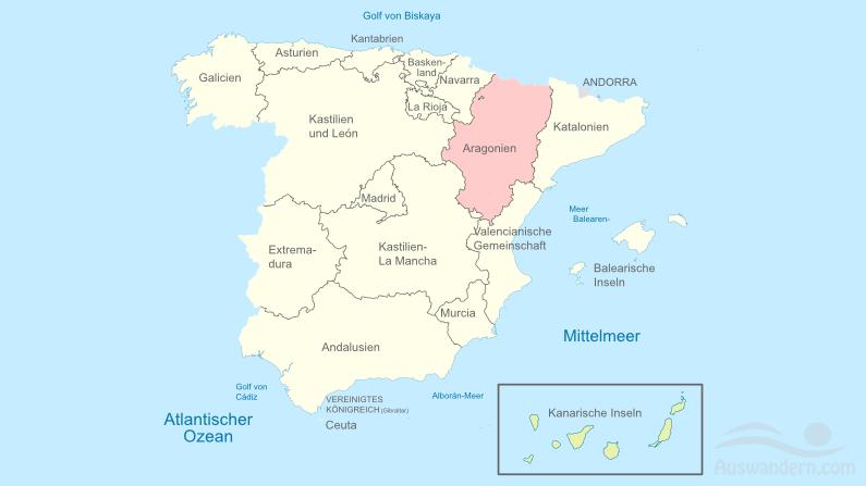 Aragón – Informationen, Klima, Lage, Städte, Sehenswürdigkeiten