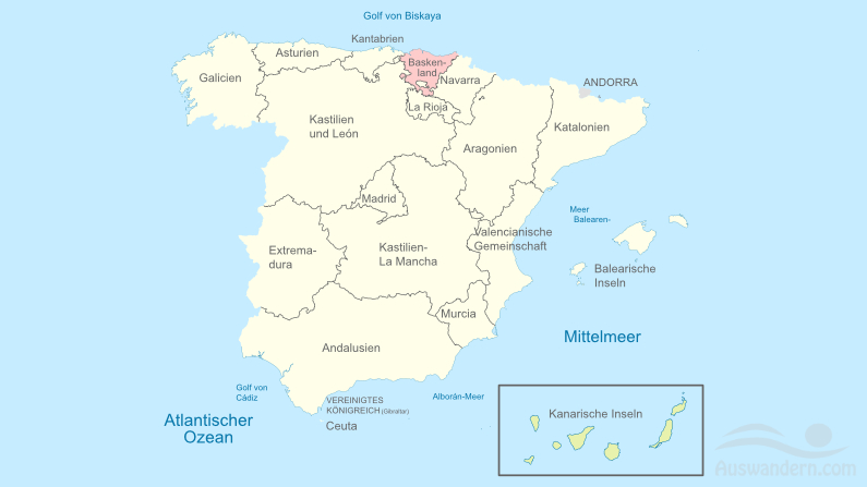 Baskenland – Informationen, Klima, Lage, Städte, Sehenswürdigkeiten