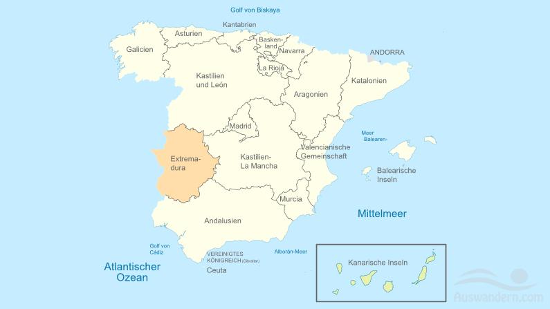 Extremadura – Informationen, Lage, Städte, Sehenswürdigkeiten, Klima, Wirtschaft, Tourismus