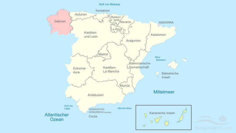 Galicien – Informationen, Klima, Lage, Städte, Sehenswürdigkeiten
