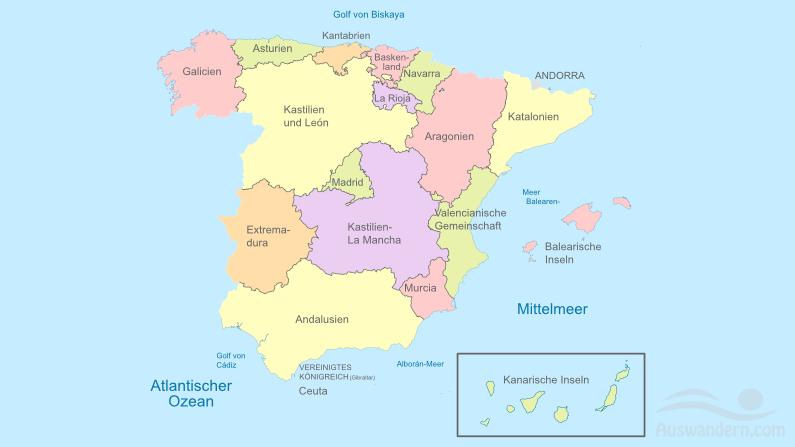 Spanien von der Lage bis zur Infrastruktur