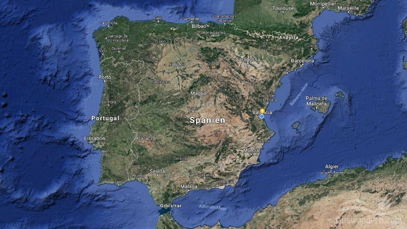 Geografischen Lage Spanien