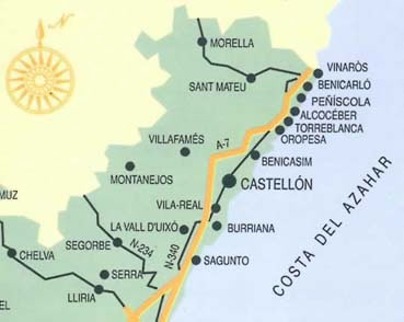 Städte und Dörfer an der Costa del Azahar / Valencia